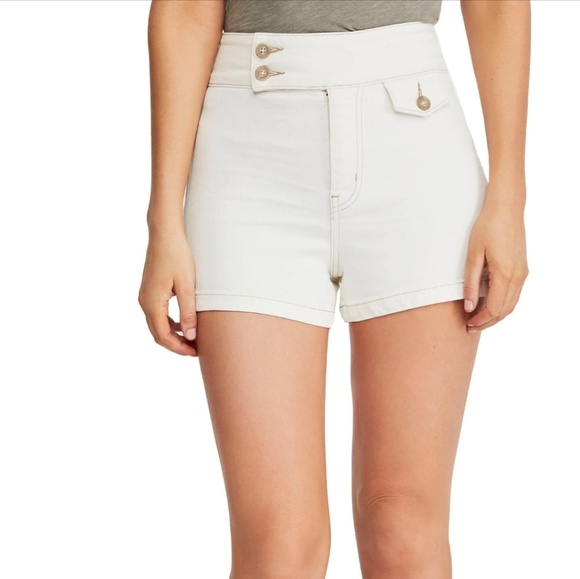 Free People Pants - We The Free People White High Waist Shorts NWT